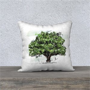 Green oak cushion