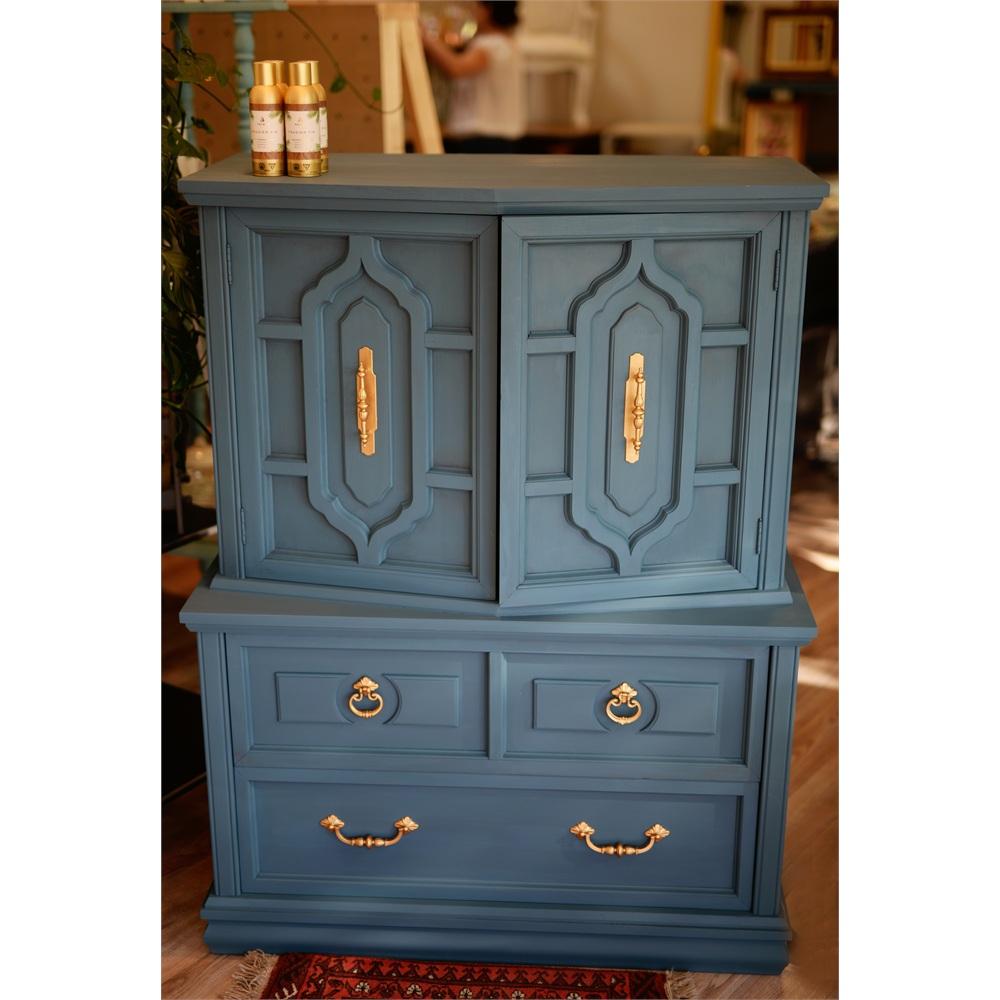 aube cr ations commode 39 39 monsieur boho 39 39 aubusson blue vendu. Black Bedroom Furniture Sets. Home Design Ideas